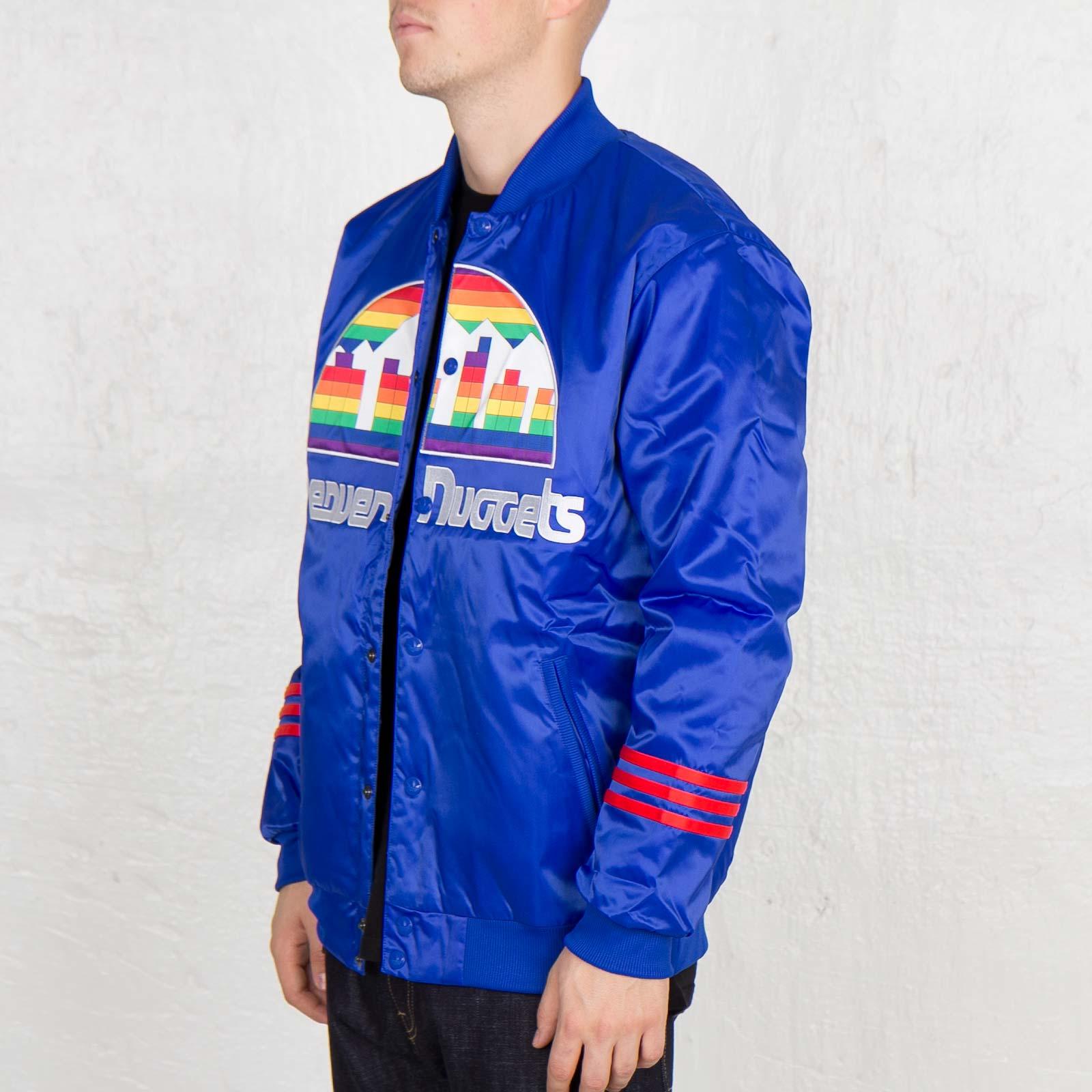 on sale 4efd3 fbe2e adidas NBA Denver Nuggets Jacket - G76318 - Sneakersnstuff ...
