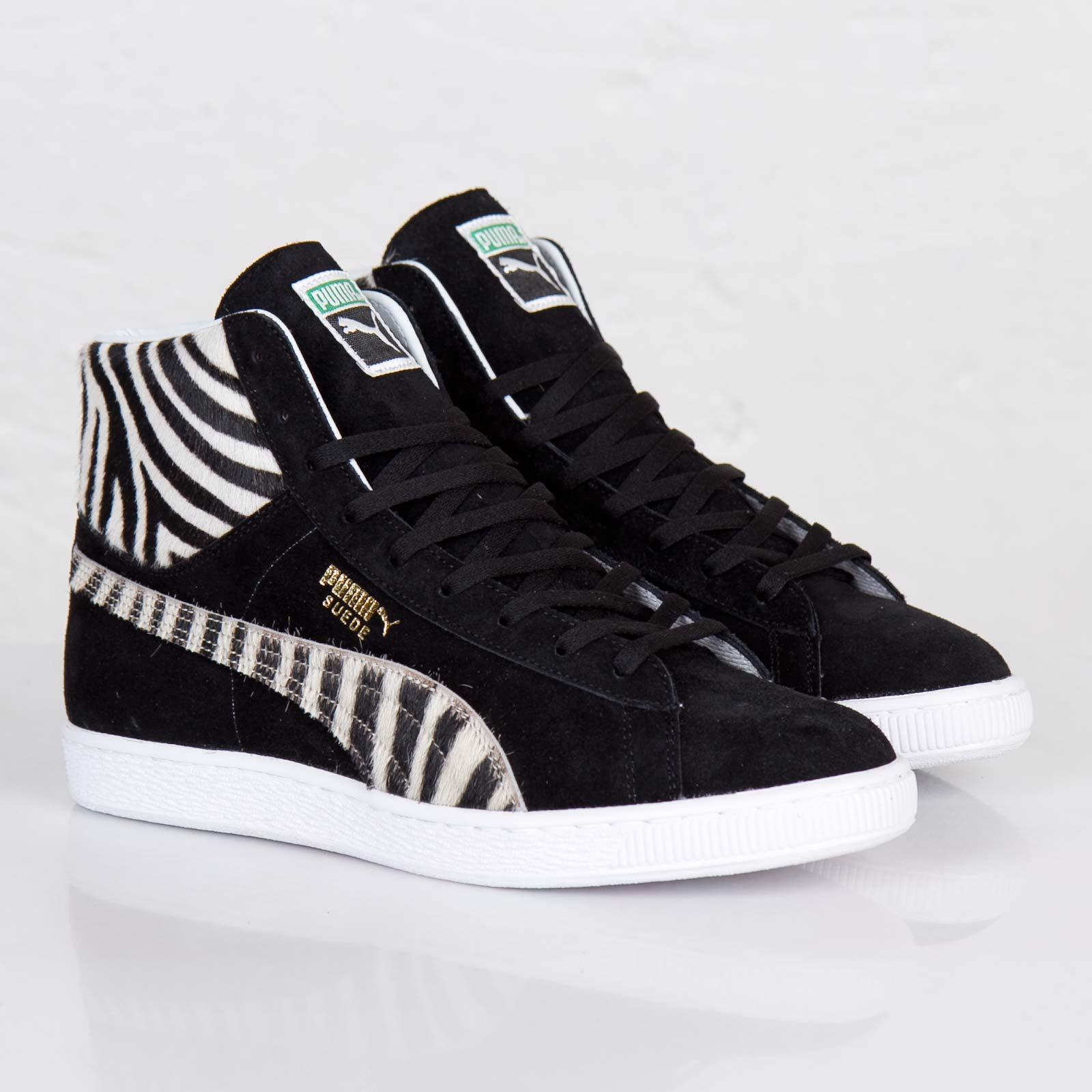 Puma Japan Suede Mid Zebra - 356585-01 - Sneakersnstuff  a00334890
