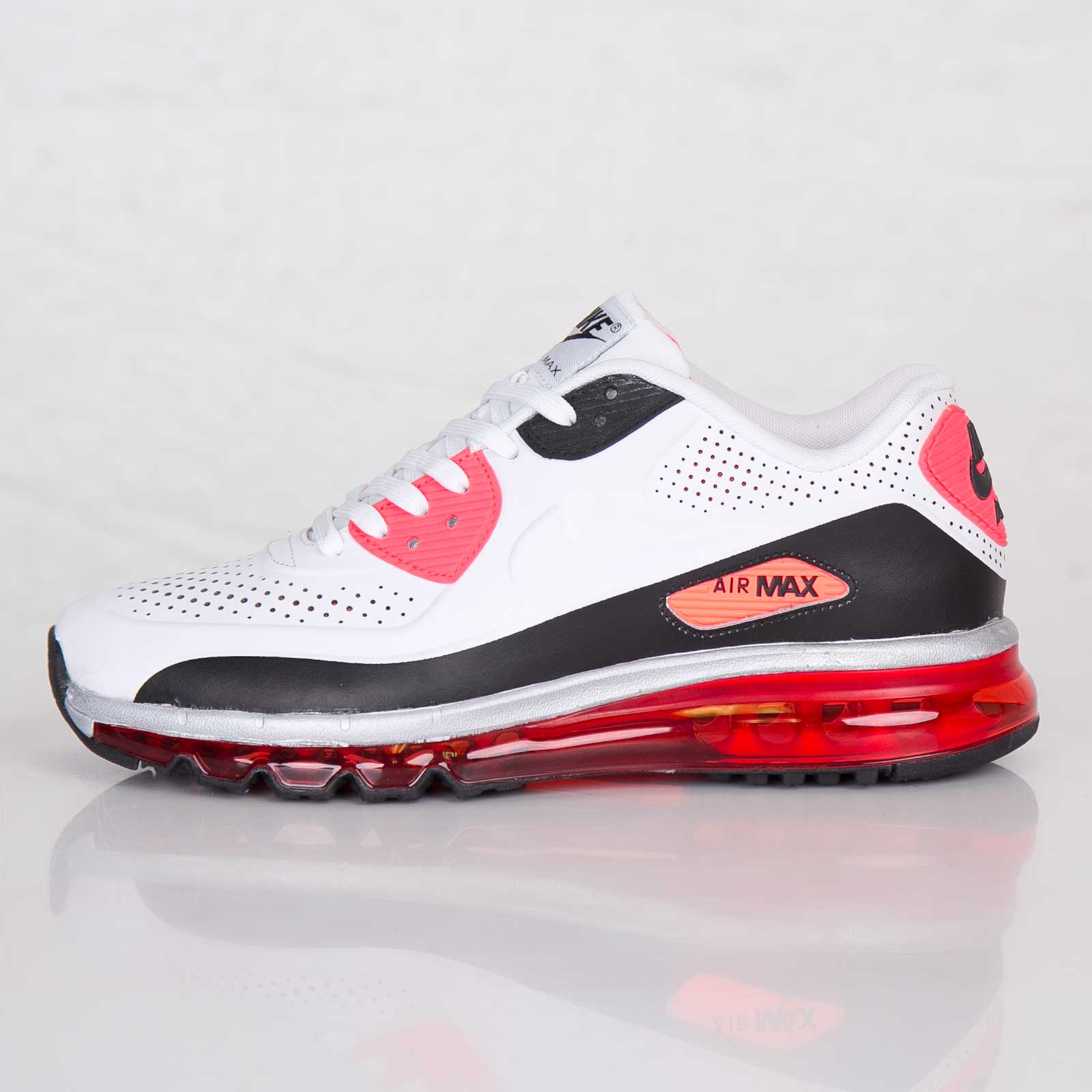 NIKE AIR MAX 90 2014 Leather Qs Size 10.5 646909 100 White