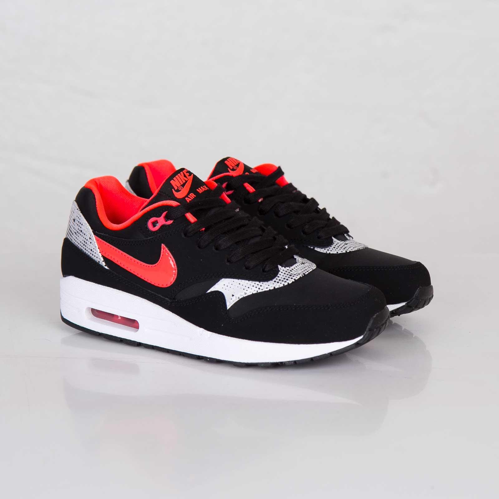 Nike WMNS Air Max 1 Black Laser Crimson White