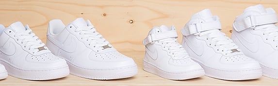 nike air force låga vita