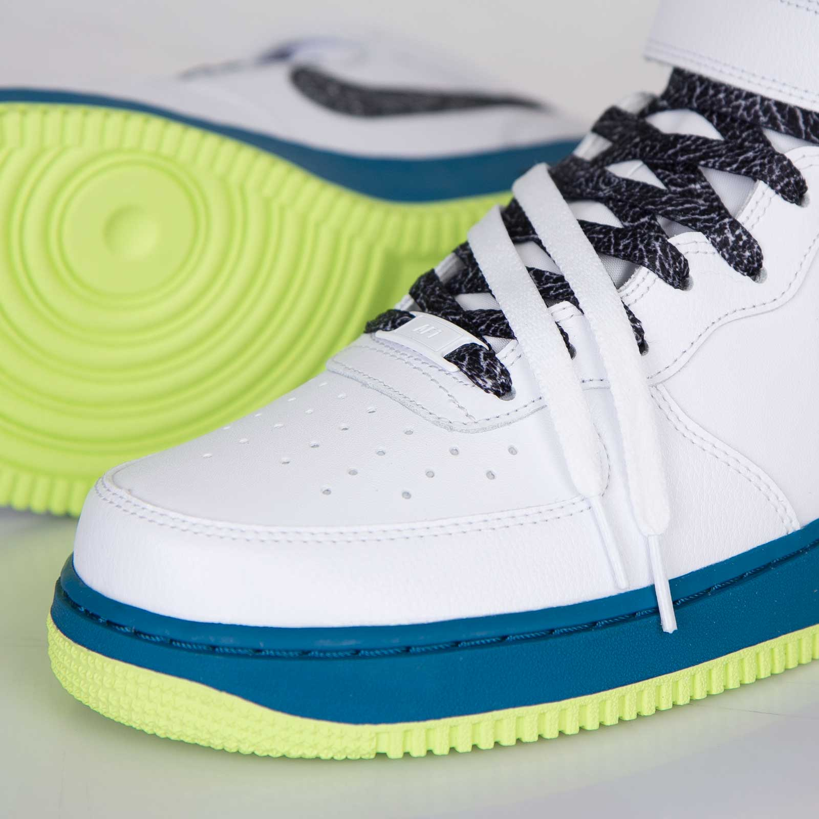 Nike Air Force 1 MID 07 Schuhe white black green abyss volt
