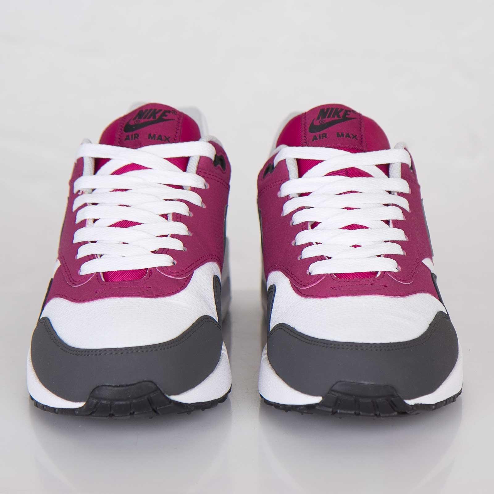 Nike Air Max 1 Essential White Dark Base Grey Bright Magenta